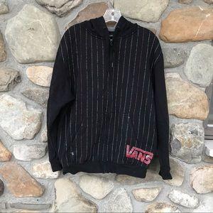 VANS zip up hoodie sweatshirt size M black